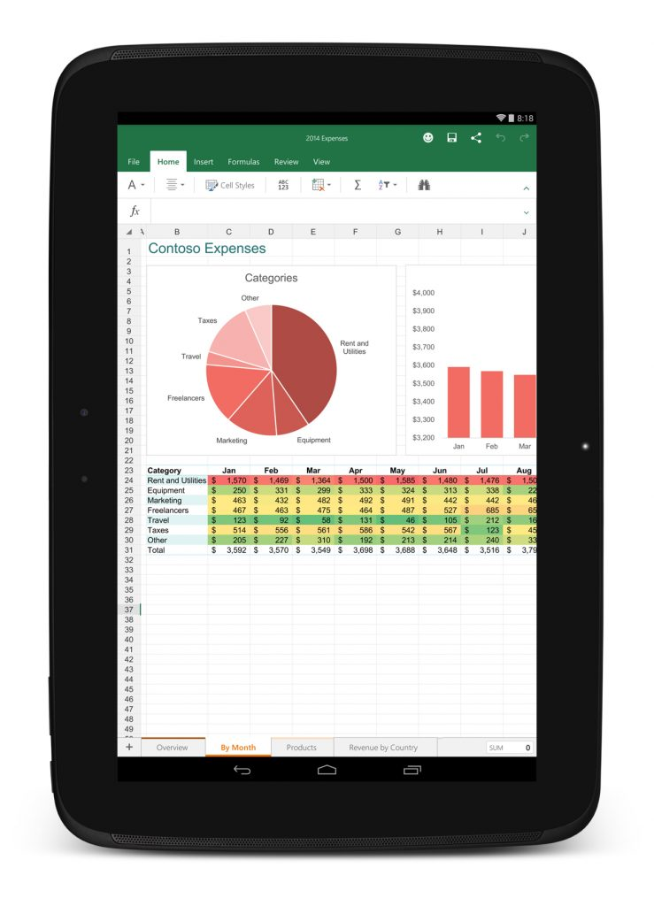 Excel on Android
