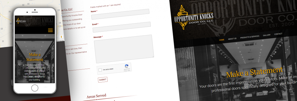 Opportunity Knocks Door Company Website Teaser